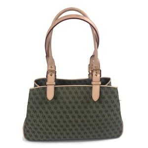 Dooney & Bourke green and tan purse